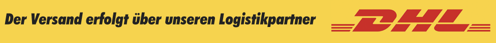 Deliveries via DHL take place within 1 to 3 working days